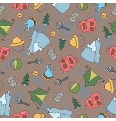 seamless pattern of Camping Elements vector image