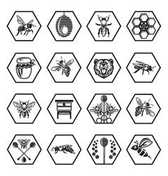 Set of honey icons vector