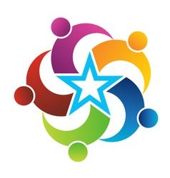Teamwork Star vector image vector image