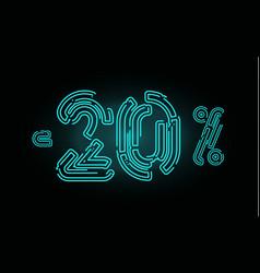 20 sale poster concept twenty percent discount vector image