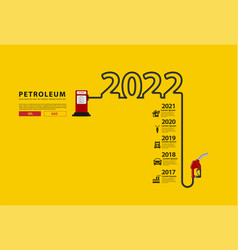 2022 new year petroleum concept with gasoline vector