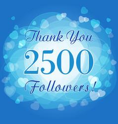 2500 followers hearts vector image