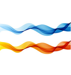 Abstract color wave design element curve flow vector