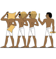 ancient egypt builders vector image