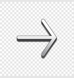 Arrow 3d icon raised symbol vector
