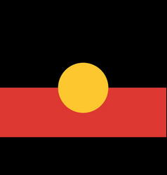 Australian aboriginal flag vector