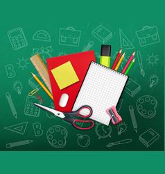 Back to school creative realistic school vector