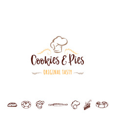 Badge for small businesses - cookies and pies the vector