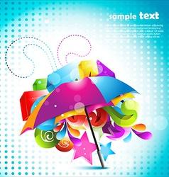 beautiful umbrella design vector image