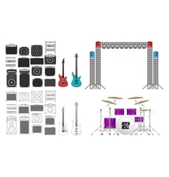 Big Concert and Festival Stage Set vector