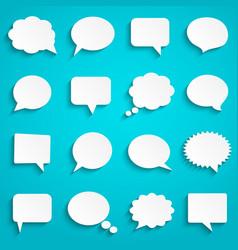 blank empty paper white speech bubbles vector image