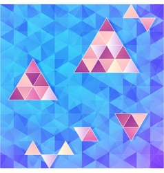 Blue and pink triangles background vector image
