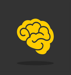 brain - icon brain in flat design vector image