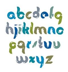 Bright acrylic hand-painted font handwritten vector