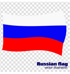 bright background with flag of russia happy vector image