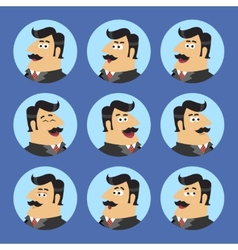 Business Shareholder Icon Set vector image