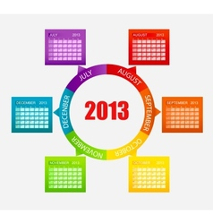 Calendar 2013 Part 2 vector image