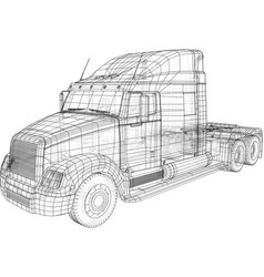 cargo truck isolated on grey background trucks vector image