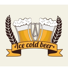 Cartoon ice cool beer design design vector