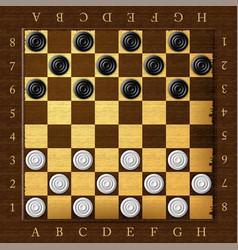 Checkers chess board checker game vector