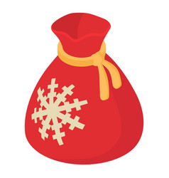 christmas bag icon isometric 3d style vector image