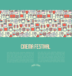 cinema festival concept contains seamless pattern vector image
