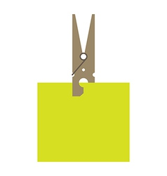 Clothes peg and reminder note vector image