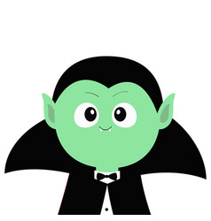 Count dracula wearing black cape cute cartoon vector