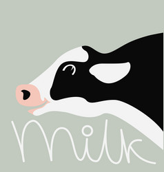 Cow head cartoon vector