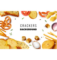 Crackers realistic frame vector
