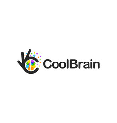 Creative brain icon education innovation ok vector