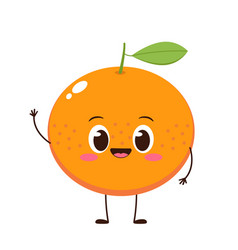cute and happy orange character vector image