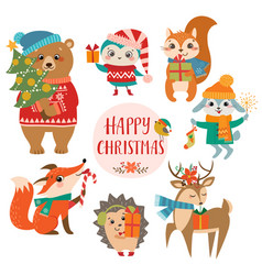Cute christmas greetings vector