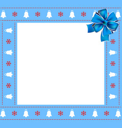 cute christmas or new year border with xmas bells vector image