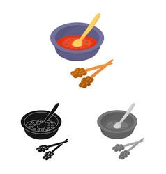 Dish and sauce symbol set vector
