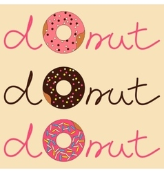 donut with inscription vector image