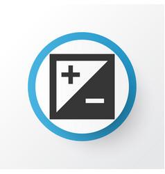 Exposure icon symbol premium quality isolated vector