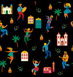 Festa junina seamless pattern vector