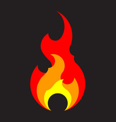 fire icon template isolated flat flame logo vector image