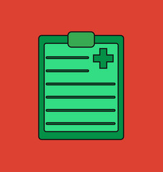 Flat icon design collection medical board vector