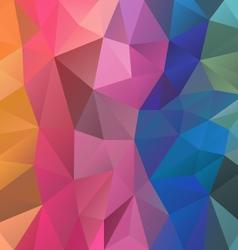 full color spectrum rainbow polygon triangular vector image
