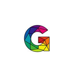 G colorful low poly letter logo icon design vector