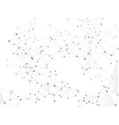 Geometric plexus structure cybernetic concept vector