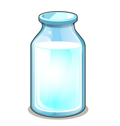 glass transparent bottle with white liquid vector image