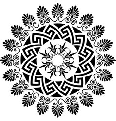 greek ornament meander vector image