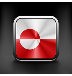 Greenland icon flag national travel icon country vector image