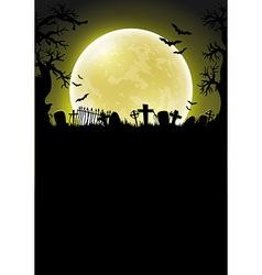 Halloween background with moon vector