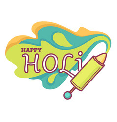 holi indian holiday or paint festival isolated vector image