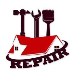 Home repair symbol roand tool vector