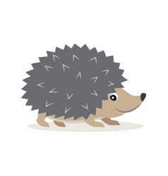 icon of gray hedgehog isolated forest woodland vector image